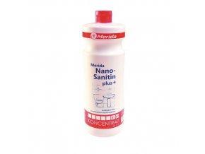 Čisticí prostředek na koupelny Merida Nano Sanitin, 1 l, 4 ks