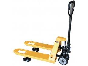 paletovy vozik s kratkymi vidlicemi do 2 000 kg gumova ridici kola a