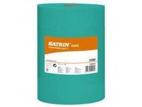 Papírové ručníky Katrin Basic S 1vrstvé, 60 m, zelené, 12 ks