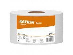 Toaletní papír Katrin Basic Gigant S 1vrstvý, 18 cm, 160 m, 68% bílá, 12 rolí