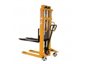 Ruční vysokozdvižný vozík, do 1 000 kg, výška zdvihu 3 000 mm