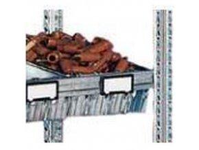 Držáky etiket na regály, 10 cm, 20 ks