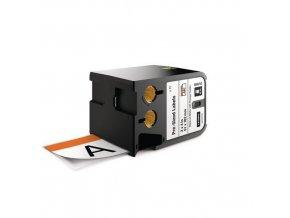Předem nařezané štítky XTL bezpečnostní s oranžovou hlavičkou