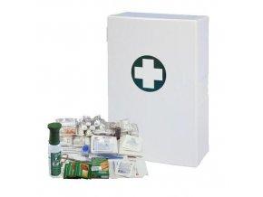 Plastová nástěnná lékárnička, 40 x 27,5 x 12,7 cm, s náplní SKLAD