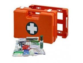 Plastový kufr první pomoci se stěnovým držákem, 25 x 33,5 x 12,3 cm, s náplní SKLAD