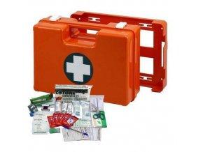 Plastový kufr první pomoci se stěnovým držákem, 25 x 33,5 x 12,3 cm, s náplní KANCELÁŘ
