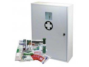 Kovová nástěnná lékárnička, uzamykatelná, 60 x 45 x 16 cm, s náplní VÝROBA