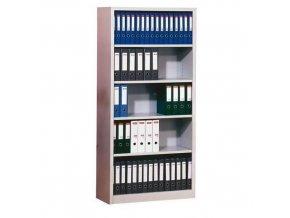 Kovový regál, základní, 195 x 92,5 x 42,2 cm, 4 police, šedý