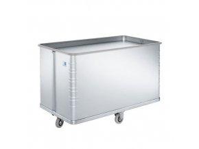 Hliníkový přepravní vozík s pohyblivým dnem, 590 l