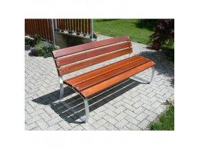 Parková lavička Aster s opěradlem
