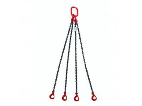 Vázací řetěz s okem a čtyřmi háky s bezpečnostní pojistkou, do 2 360 kg