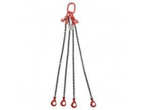 Vázací řetěz s okem a čtyřmi háky, regulace délky řetězu, automatická pojistka, do 2 360 kg