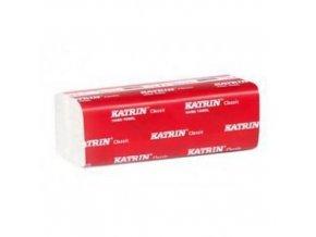 Papírové ručníky Katrin Plus ZZ - Handy Pack 2vrstvé, 150 útržků, bílé, 21 ks