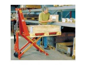 Nůžkový paletový vozík BT HHL100 s elektrickým zdvihem, do 1 000 kg, výška zdvihu 800 mm