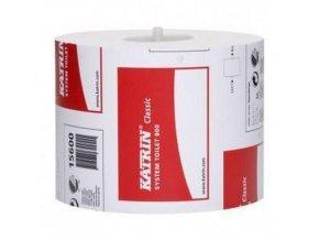 Toaletní papír Katrin System Classic 2vrstvý, 13,7 cm, 800 útržků, bílá, 36 rolí