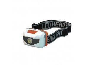 LED čelovka s červeným světlem, dosvit 60 m