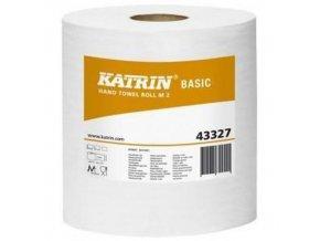 Papírové ručníky Katrin Maxi Basic 2vrstvé, 150 m, šedá, 6 ks