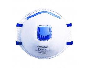 Respirátor Manu s ventilkem, stupeň ochrany FFP2, 10 ks