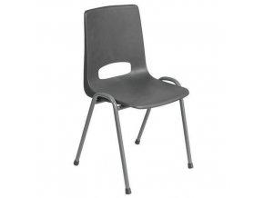 Plastové jídelní židle Pavlina Dark Grey