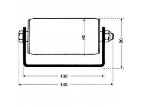 Válečkové dopravníky pro palety, šířka 148 mm, U profil