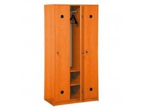 Dřevěné šatní skříně Jacob, 3 oddíly