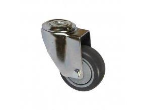 Antistatická gumová přístrojová kola se středovým otvorem, průměr 80 - 125 mm, otočná, kuličková ložiska