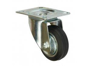 Gumová transportní kola s přírubou, průměr 80 - 200 mm, otočná, valivá ložiska