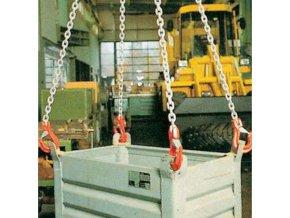 Vázací řetěz s okem a čtyřmi háky, do 11 200 kg