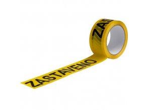 Lepicí pásky s nápisem zastaveno, šířka 50 mm