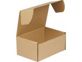 Kartonové krabice s víkem, 105 - 155 x 235 x 155 mm