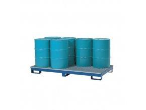 Záchytné vany pro 8 sudů 200 l