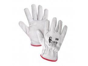 Kožené rukavice CXS, bílé