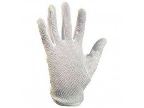 Bavlněné rukavice CXS s terčíky, bílé
