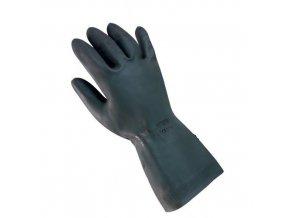 Latexové rukavice Mapa s příměsí neoprenu, černé
