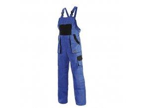 Pánské montérkové kalhoty CXS Luxy s laclem, modré/černé