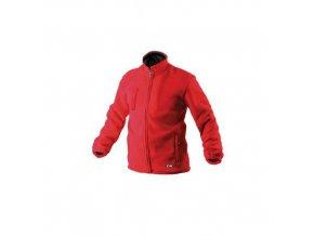 Pánská fleecová mikina na zip, červená