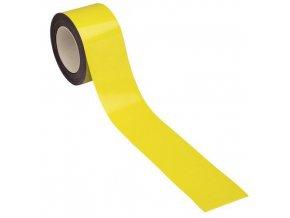 Magnetické pásky na regály Manu, 10 m, žluté