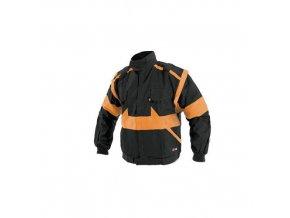 Pánská montérková blůza CXS Luxy, černá/oranžová