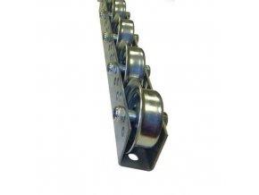 Univerzální kladičkové lišty, ocel, šířka 41 mm, rozteč 75 - 125 mm