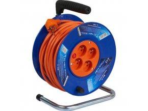 Plastové prodlužovací kabely na bubnu se čtyřmi zásuvky