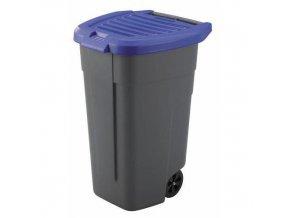 Plastová popelnice na tříděný odpad, objem 100 l