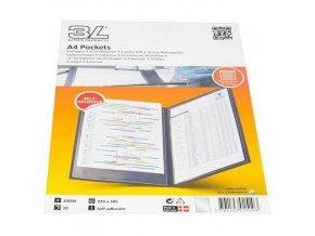 Informační kapsy 3L Office A4, samolepicí