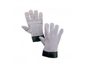 Antivibrační kožené rukavice CXS, šedé/černé