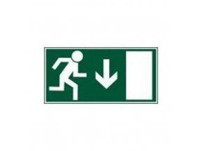 Únikové fotoluminiscenční bezpečnostní tabulky - Únikový východ nad dveře