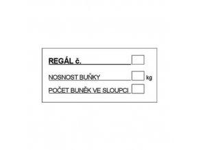 Informační bezpečnostní tabulky - Označení regálu