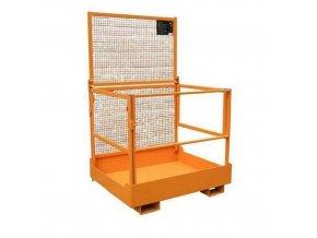 Skládací pracovní klece pro vysokozdvižný vozík, rozměry 100 x 120 cm