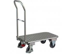 Plošinové vozíky se sklopným madlem, do 150 kg