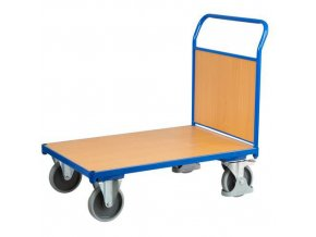 Plošinové vozíky s madlem s plnou výplní, do 500 kg