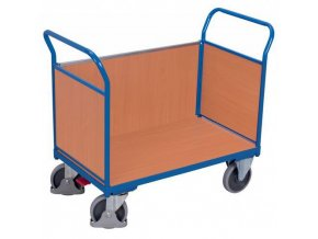 Plošinové vozíky se dvěma madly s plnou výplní a boční stěnou, do 500 kg