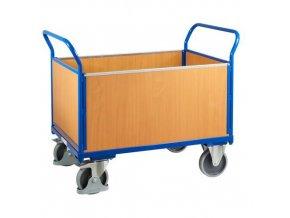 Plošinové vozíky se dvěma madly s plnou výplní a bočními stěnami, do 500 kg